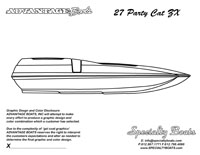 27 Party Cat ZX Boat Blank