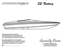 32 Victory Boat Blank